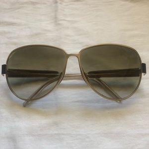 Balenciaga gold and brown Sunglasses